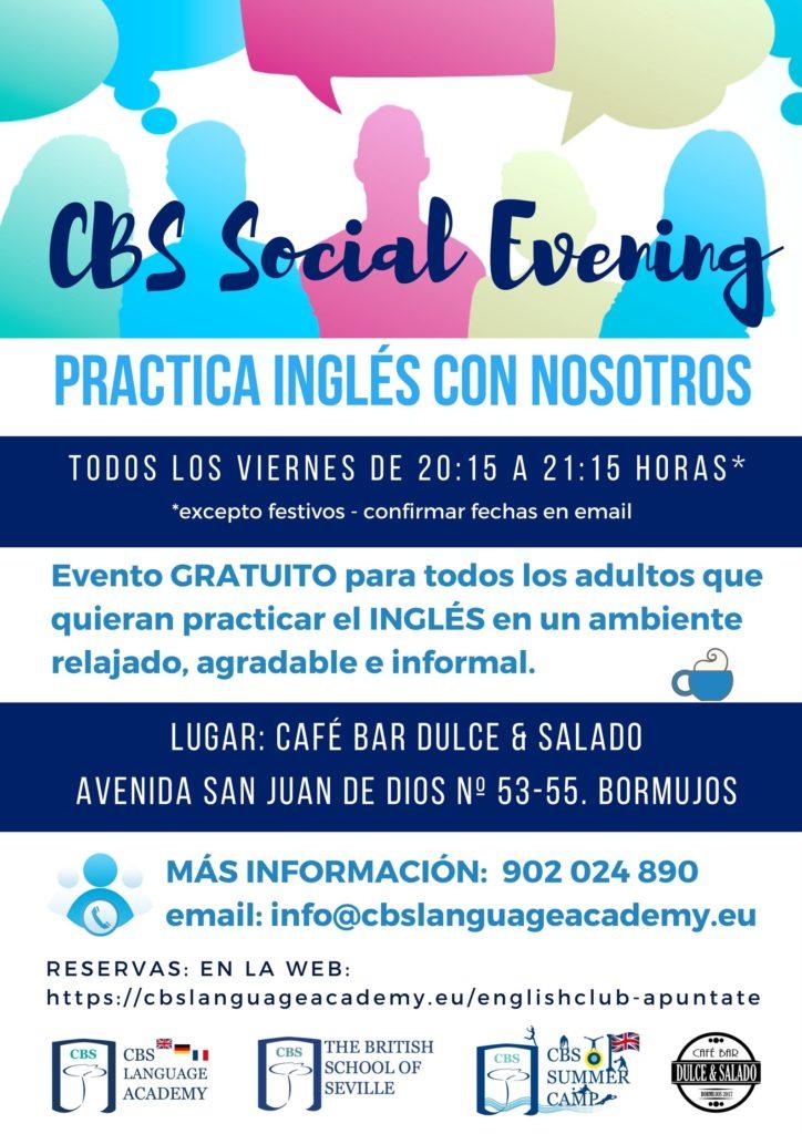 POSTER CBS SOCIAL EVENING SIN FECHAS